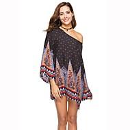 Žene Plaža Boho Širok kroj Haljina Print Color block