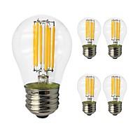 tanie Więcej Kupujesz, Więcej Oszczędzasz-5szt 6 W 560 lm E27 Żarówka dekoracyjna LED G45 6 Koraliki LED COB Dioda LED / Żarówka Edisona Ciepła biel / Zimna biel 220-240 V / RoHs