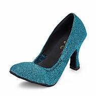 billige Moderne sko-Dame Moderne Sateng Sandaler Stiletthæl Marineblå Kan spesialtilpasses