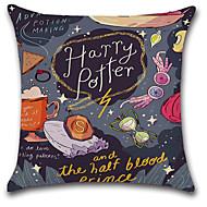 tanie Zestawy poduszki-1 szt Cotton / Linen Pokrywa Pillow, Nadruk Styl artystyczny Retro