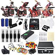 Solong Tattoo Tattoo Machine Stručni tattoo kit 4 x legure tetovaža stroj za obloge i sjenčanje Visoka kvaliteta LCD napajanja 2 x legure