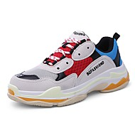 cheap Women's Athletic Shoes-Women's Shoes PU Leather Tulle Spring Fall Comfort Athletic Shoes Running Shoes Walking Shoes Flat Heel Round Toe for Athletic Outdoor