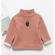 billige Hættetrøjer og sweatshirts til babyer-Baby Pige T-shirt Bomuld Langærmet Normal Lyserød Mørkegrå Navyblå Gul Lysebrun