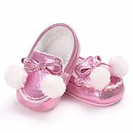 tanie Obuwie chłopięce-Dla dziewczynek Dla chłopców Buty PU Wiosna Jesień Comfort Mokasyny i pantofle na Casual Gold Black Silver Peach Brown