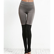Žene Crn Pamuk Kolaž Tanko Srednje Šivena čipka Legging