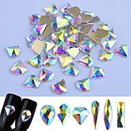 Glitter Glitre/Skinne Nail Glitter Tilfældige farver Nail Art Design