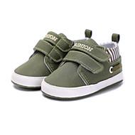 お買い得  ベビー用靴-女の子 靴 繊維 春 コンフォートシューズ / 赤ちゃん用靴 / 幼児用靴 フラット 面ファスナー のために レッド / グリーン / ブルー / ストライプ / スローガン