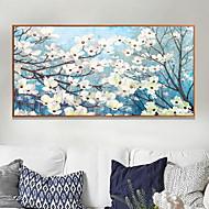 baratos Quadros com Moldura-Floral/Botânico Pintura de Óleo Arte de Parede,Liga de Alúminio Material com frame For Decoração para casa Arte Emoldurada Quarto Interior