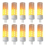 billige Kornpærer med LED-BRELONG® 10pcs 3W 230 lm G4 LED-kornpærer 36 leds SMD 2835 Flame Effect Varm hvit DC 12 V