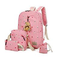 Mulheres Bolsas Lona Conjuntos de saco Conjunto de bolsa de 4 pcs Ziper para Casual Ao ar livre Primavera Outono Preto Rosa Azul Escuro