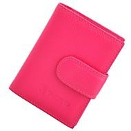お買い得  Card & ID Holder-レザー カード&IDホルダー ボタン のために オフィス&キャリア 春夏 フクシャ