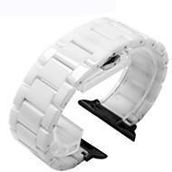 billiga Smart klocka Tillbehör-Klockarmband för Apple Watch Series 3 / 2 / 1 Apple Klassiskt spänne Keramisk Handledsrem
