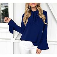 V-hals Dame - Ensfarvet I-byen-tøj Bluse