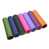 billige Matter-Yoga Matte 183*61*0.6 cm Lugtfri, Økovennlig, Ekstra Tykk, Intranettforsterkning, Høy tetthet, Klistret TPE Vanntett, Ikke Giftig, Non-Slip Til Pilates / Trening & Fitness / Bikram Grønn, Rosa
