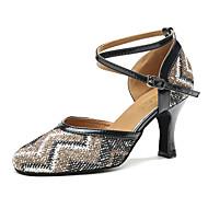 billige Moderne sko-Dame Moderne Kunstlær Joggesko Fest Trening Trimmer Stiletthæl Mandel Blå Kan spesialtilpasses