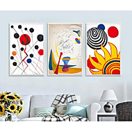 cheap Prints-Framed Set Abstract Illustration Wall Art, PS Material With Frame Home Decoration Frame Art Living Room Bedroom