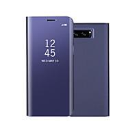 Etui Käyttötarkoitus Samsung Galaxy Note 8 Note 5 Tuella Peili Flip Automaattinen uni/herätystila Kokonaan peittävä Yhtenäinen väri Kova
