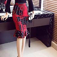 Ženske Sirena kroj Ležerne prilike Dnevno Do koljena Suknje Poliester Geometrijski oblici Zima Jesen