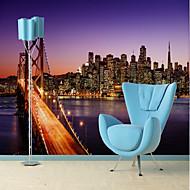 billige Tapet-Art Deco 3D Hjem Dekor Moderne By- / Flag Tapetsering , Vinylal Materiale selvklebende nødvendig Veggmaleri , Tapet