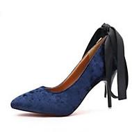tanie -Damskie Obuwie Syntetyczny Lato Bez pięty Sandały Spacery Koturn Okrągły Toe Klamra na Casual Black Niebieski Różowy
