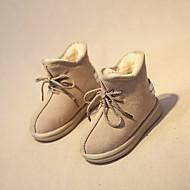 baratos Sapatos de Menino-Para Meninos Sapatos Pele Inverno Conforto / Coturnos Botas para Cinzento / Verde Tropa / Castanho Escuro / Botas Curtas / Ankle