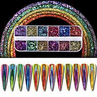 1 pcs Powder / Glitter Powder / Nail Glitter Klasik Nail Art Design Dnevno