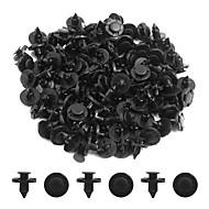 100pcs 8mm dia noir plastique splash tapis push-type tapis intérieur clips pour les voitures