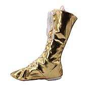 billige Jazz-sko-Dame Jazz Kunstlær Flate Innendørs Flat hæl Gull Sølv Kan spesialtilpasses