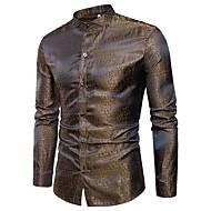 Heren Jacquard Overhemd Katoen, Club camouflage / Lange mouw