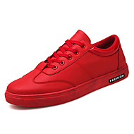 cheap Men's Sneakers-Men's Shoes Leatherette Spring / Fall Comfort Sneakers White / Black / Red
