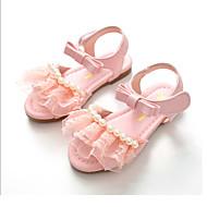 baratos Sapatos de Menina-Para Meninas Sapatos Couro Ecológico Primavera / Verão Inovador / Sapatos para Daminhas de Honra Sandálias Laço / Velcro para Branco /