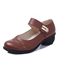 billige Moderne sko-Moderne sko Syntetisk Mikrofiber PU Høye hæler Lav hæl Kan spesialtilpasses Dansesko Svart / Brun / Rød