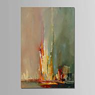 billiga Abstrakta målningar-Hang målad oljemålning HANDMÅLAD - Abstrakt Samtida / Enkel / Moderna Inkludera innerram / Sträckt kanfas