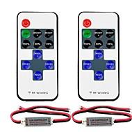 billige Lampesokler og kontakter-2pcs 5050 SMD / 5730 SMD / 2835 SMD Strip Light Tilbehør / RF trådløs RGB-kontroller Plast for RGB LED Strip Light