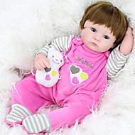 NPK DOLL Autentične bebe Za ženske bebe 18 inch Silikon / Vinil - vjeran, Ručni primijenjeni trepavice, Uvučene i zapečene nokte Dječjom Djevojčice Poklon / CE / Prirodni ton kože / Floppy Head