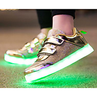 baratos Sapatos de Menina-Para Meninas Sapatos Tule Primavera Conforto Tênis para Dourado / Prata / Rosa claro