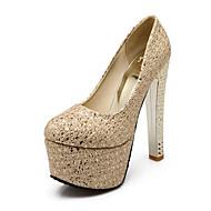 Ženske Cipele Svjetlucave šljokice PU Proljeće Ljeto Udobne cipele Inovativne cipele Cipele na petu Štiklu Okrugli Toe za Vjenčanje