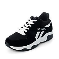 Femme Chaussures Polyuréthane Eté Creepers bottes slouch Chaussures à Talons Marche Hauteur de semelle compensée Bout ouvert Boucle pour