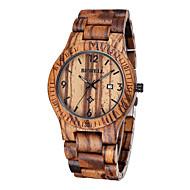 저렴한 드레스 시계-남성용 손목 시계 독특한 창조적 인 시계 시계 나무 일본어 석영 브라운 30 m 방수 달력 아날로그 사치 - 브라운 2 년 배터리 수명