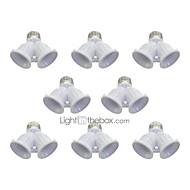 billige Lampesokler og kontakter-8pcs E27 til E27 E27 Lysstikkontakt Plast Bulb Accessory 100W