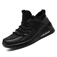 tanie Obuwie męskie-Męskie Buty PU Jesień Comfort Buty do lekkiej atletyki na Casual White Black Black/White
