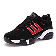 cheap Women's Athletic Shoes-Women's Shoes Leather Tulle PU Spring Fall Comfort Light Soles Athletic Shoes Running Shoes Flat Heel Round Toe for Athletic Outdoor