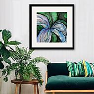 billige Innrammet kunst-Blomstret/Botanisk abstrakt Tegning Veggkunst,PVC Materiale med ramme For Hjem Dekor Rammekunst Stue Kjøkken Spisestue Soverom Kontor