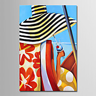 cheap Oil Paintings-Oil Painting Hand Painted - People Comtemporary Simple Modern Canvas