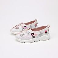 tanie Obuwie dziewczęce-Dla dziewczynek Buty Derma Wiosna Jesień Comfort Mokasyny i pantofle na Casual Różowy