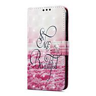 billiga Mobil cases & Skärmskydd-fodral Till Huawei P9 lite mini Korthållare Plånbok med stativ Lucka Magnet Mönster Fodral Landskap Hårt PU läder för P9 lite mini Huawei