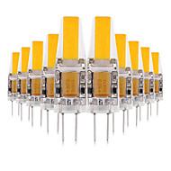 billige Bi-pin lamper med LED-YWXLIGHT® 10pcs 3W 200-300lm G4 LED-lamper med G-sokkel 2 LED perler COB Dekorativ LED Lys Varm hvit Kjølig hvit Naturlig hvit 12V 12-24V