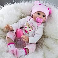 baratos -NPK DOLL Bonecas Reborn Bebês Meninas 22 polegada Silicone Vinil - Recém nascido realista Fofinho Á Mão Segura Para Crianças Non Toxic de Criança Unisexo / Para Meninas Brinquedos Dom / Adorável