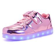 baratos Sapatos de Menino-Para Meninos Sapatos Couro Envernizado Primavera / Outono Conforto Tênis para Dourado / Prata / Rosa claro