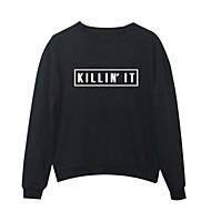Dame Daglig I-byen-tøj Sweatshirt Bogstaver Andet Uelastisk
